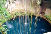 picture of cenote  - Cenote near Cancun Mexico - JPG