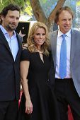 LOS ANGELES - JAN 29: Jeremy Sisto, Cheryl Hines, Kevin Nealon at a ceremony as Cheryl Hines is hono