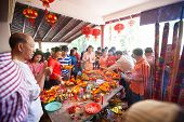 Phnom Penh, Cambodia - 31 January 2014 People Celebrate Chinese New Year On 31 Of January 2014, In P