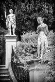 Sculptured figure on the grounds of the Achillion Palace on the island of Corfu.