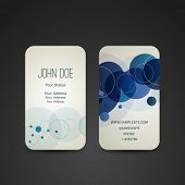 Business Card Template with Blue Bubbles