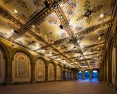 image of underpass  - New York City at  Bethesda Terrace underpass in Central Park - JPG