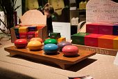 Natural Bath Soaps On Display At Olis Festival In Milan, Italy