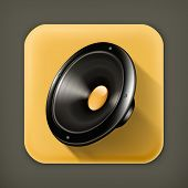 Speaker, long shadow vector icon