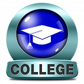 college towards good education and knowledge learn to know educate yourself and go to school icon or