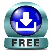 Download free button or icon music, video movie or data downloading pdf document file