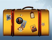 vintage yellow suitcase
