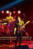 Постер, плакат: Rock band Placebo and Brian Molko in concert at the Sport Palace on Saturday September 22 2012 in