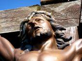 Jesus' face on the cross