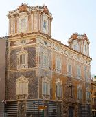 stock photo of 1700s  - Marques de dos Aguas Palace with alabaster sculptures facade in Valencia Spain - JPG