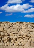 Tabarca Island battlement fort masonry wall detail in Spain