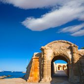 stock photo of tierra  - Tabarca Puerta de San Miguel de Tierra fort door arc in Alicante Spain - JPG