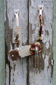 Macro Of Aged Shed Door
