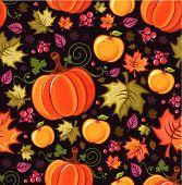 Seamless autumnal background