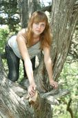 Girl On The Tree