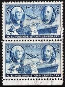 Washington And Franklin Stamps