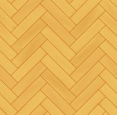 Yellow realistic wooden floor herringbone parquet seamless pattern, vector