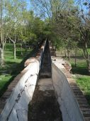 foto of hacienda  - This picture shows an old aquaduct at the garden of Hacienda Jurica Hotel - JPG