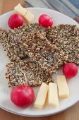 picture of flaxseeds  - Whole Grain Crispbread with sunflower seeds - JPG