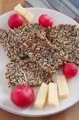 foto of flaxseeds  - Whole Grain Crispbread with sunflower seeds - JPG