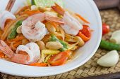 foto of thai cuisine  - green papaya salad thai food Thai cuisine  - JPG