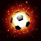 Vector illustration of a soccer ball explosion