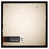 Vector template for a vintage photo frame