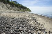 Latvia,  Kurzeme. Beach And Steep Coast Of The Baltic Sea.