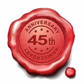 45Th Red Wax Seal