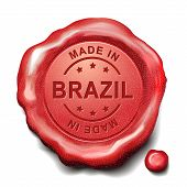 Made In Brazil Red Wax Seal