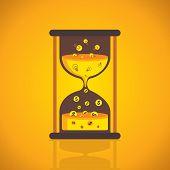 sand clock idea convert into money creative conversion concept vector