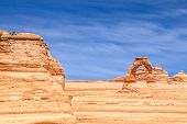 foto of turret arch  - Delicate Arch at Arches National Park Utah USA - JPG