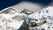 Everest From Way To Everest Base Camp With Cloud -khumbu Valley - Neepal