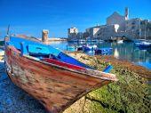 Landscape view of Giovinazzo touristic port. Apulia. poster