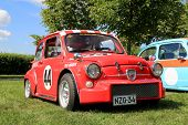 Red Fiat Abarth Rally Car