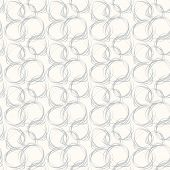 Seamless pattern with abstract circle doodle ornament