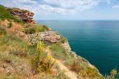 Rocky Cliff On Kaliakra Headland, Bulgarian Black Sea Coast