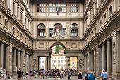 Uffizi Gallery, Florence, Italy.