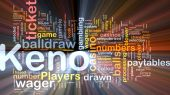 stock photo of keno  - Background concept wordcloud illustration of gambling betting gaming glowing light - JPG