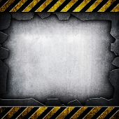 cracked metal with stripe background