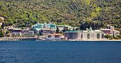 Russian St. Pantaleon Orthodox monastery at Mount Athos, Agion Oros (Holy Mountain), Chalkidiki, Gre