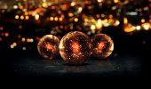 Three Orb Orange 3D Bokeh City Background Loop Animation