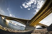 One Of Budapest On The Danube Bridge
