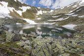 Mountain lake in the Italian alps Europe