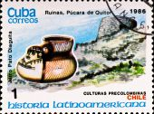 Postage Stamp Shows Example Chile Culture