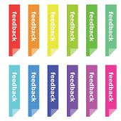 Colorful Feedback Bookmarks