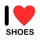 Font Type Illustration - I Love Shoes