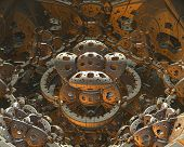 stock photo of centrifuge  - A 3d fractal of a fantasy photon centrifuge - JPG