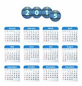 English Calendar 2015 With Circle Jeans Tags