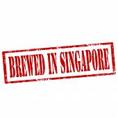 Brewed In Singapore-stamp